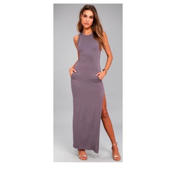 83c6e6376b Lulu s Dresses   Skirts - SHIELD AND SWORD DUSTY PURPLE SLEEVELESS DRESS